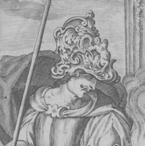Bisaccioni Historia delle guerre Ausschnitt Kopf Mars Grauton