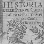 Bisaccioni Historia delle guerre Ausschnitt Titel Grauton