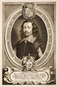 "Schering Rosenhane, portrait published in ""Hommes Illustres"" by Anselmus van Hulle, after 1647, (c) public domain, Wikimedia"